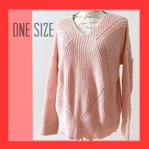 NWOT Soft Pink knit Sweater